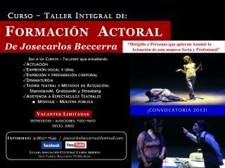 Lugar: Asociación Cultural Campo Abierto Gral. Federico Recavarren 560 Miraflores