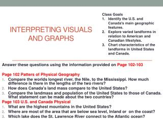 Interpreting Visuals  and  Graphs