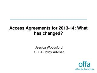 Access Agreements for 2013-14: What has changed?