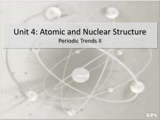 Unit 4: Atomic and Nuclear Structure Periodic Trends II