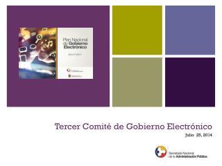 Tercer Comité de Gobierno Electrónico