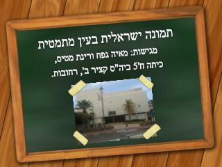 תמונה ישראלית בעין מתמטית