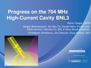 Progress on the 704 MHz High-Current Cavity BNL3