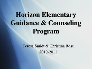 Horizon Elementary Guidance & Counseling Program