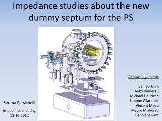 Impedance studies about the new dummy septum for the PS