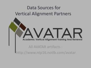 Data Sources for  Vertical Alignment Partners