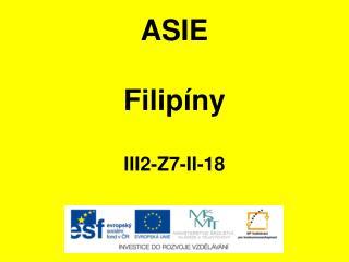 ASIE Filipíny III2-Z7-II-18