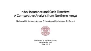 Index Insurance and Cash Transfers: A Comparative Analysis from Northern Kenya