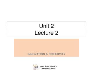 Unit 2 Lecture 2