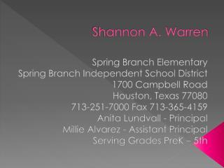 Shannon A. Warren