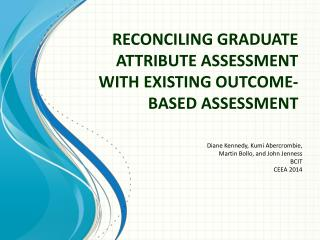 Reconciling Graduate Attribute Assessment with Existing Outcome-Based Assessment
