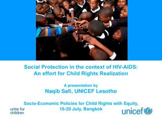 Social Protection in the context of HIV-AIDS:  An effort for Child Rights Realization