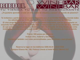 ¿Te gustaría aprender a catar un vino, saber de etiqueta y conocer un mundo de placeres?