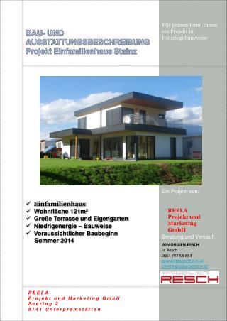 BAU- UND AUSSTATTUNGSBESCHREIBUNG Projekt Einfamilienhaus  Stainz
