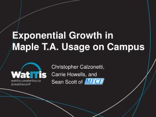 Exponential Growth in Maple T.A. Usage on Campus