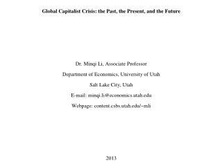 Global Capitalism Presentation