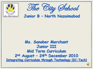The City School Junior B – North  Nazaimabad