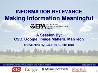 INFORMATION RELEVANCE Making Information Meaningful
