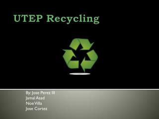 UTEP Recycling