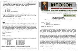 Edisi  : III / 29 .april.2012