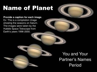 Name of Planet