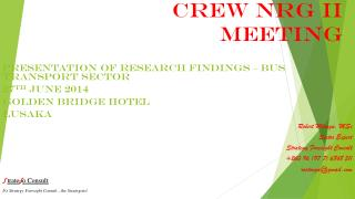 CREW NRG II MEETING