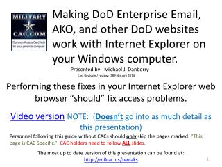 Making AKO or other DoD websites work with Internet Explorer  Google Chrome