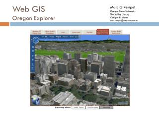 Web GIS Oregon Explorer
