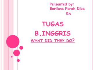 t ugas bggris what did they do?