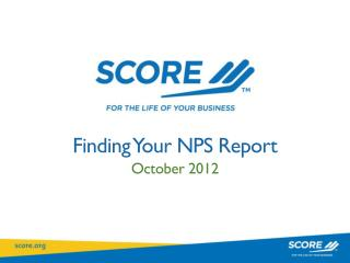 Finding Your NPS Report