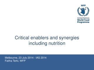 Melbourne, 23 July 2014 - IAS 2014 Fatiha Terki, WFP