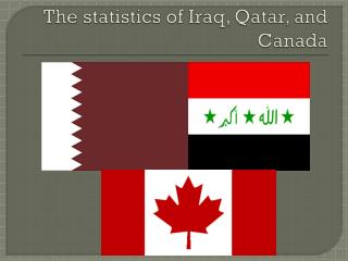 The statistics of Iraq, Qatar, and Canada