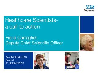 Healthcare Scientists- a call to action