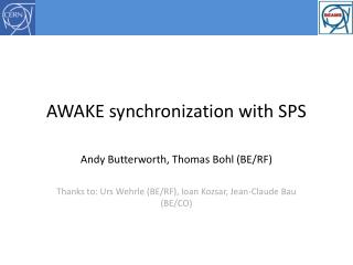 AWAKE synchronization with SPS