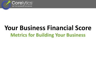 Your Business Financial Score