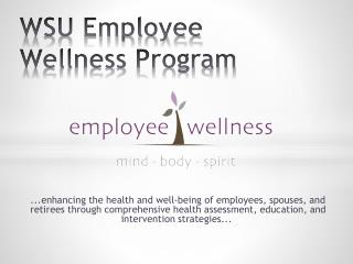 WSU Employee Wellness Program
