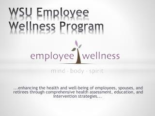 WSU Employee Wellness Program