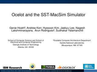 Ocelot and the SST- MacSim  Simulator