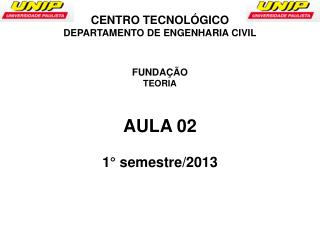AULA 02 1°  semestre/2013