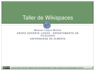 Taller de Wikispaces