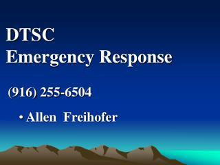 DTSC Emergency Response