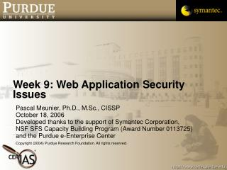Week 9: Web Application Security Issues
