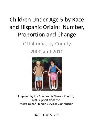 Children Under Age 5 by Race and Hispanic Origin:  Number, Proportion and Change