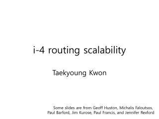i-4 routing scalability