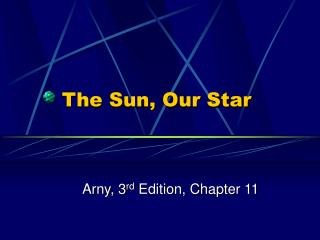 The Sun, Our Star