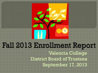 Fall 2013 Enrollment Report