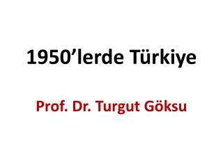 1950'lerde Türkiye