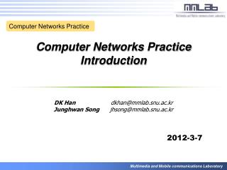 Computer Networks Practice Introduction