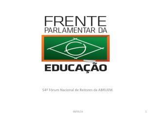 54º Fórum Nacional de Reitores da ABRUEM.