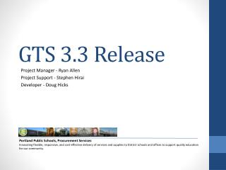GTS 3.3 Release